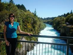 Denise at Huka Falls