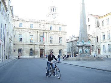 Denise on her Le Phenicien bicycle