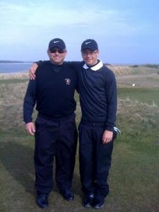 John and Kristian Beall on the New Course, St Andrews