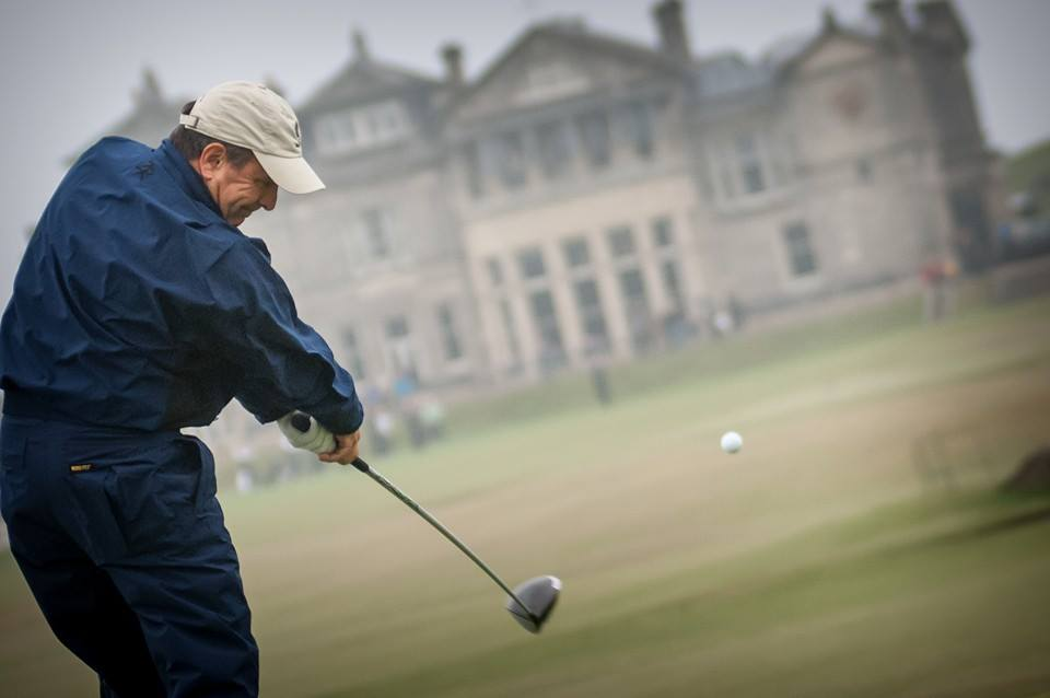 Gordon Dalgleish tees off 18 at the Old Course, St Andrews