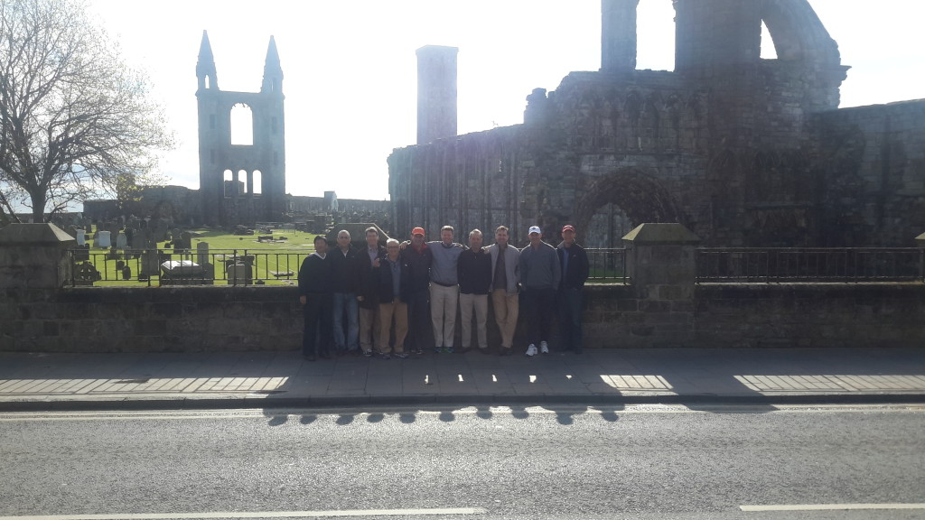 PerryGolf clients enjoy a beautiful day at the St Andrews Cathedral.