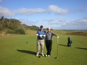 Dan and James Hollmann at Kingsbarns Golf Links
