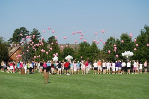 The Traditional Pink Balloon Release