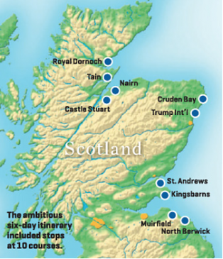 The Scotland buddies-trip itinerary. Photo by Matt Ginella