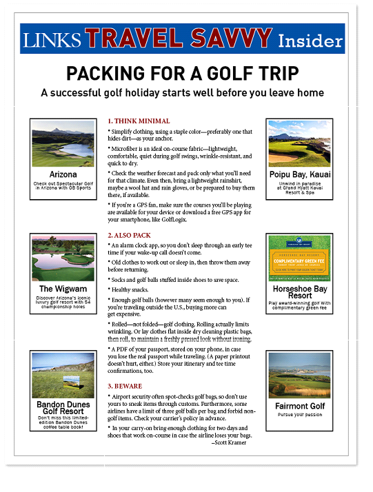 TravelSavvy - Packing For  A Golf Trip - Links Magazine
