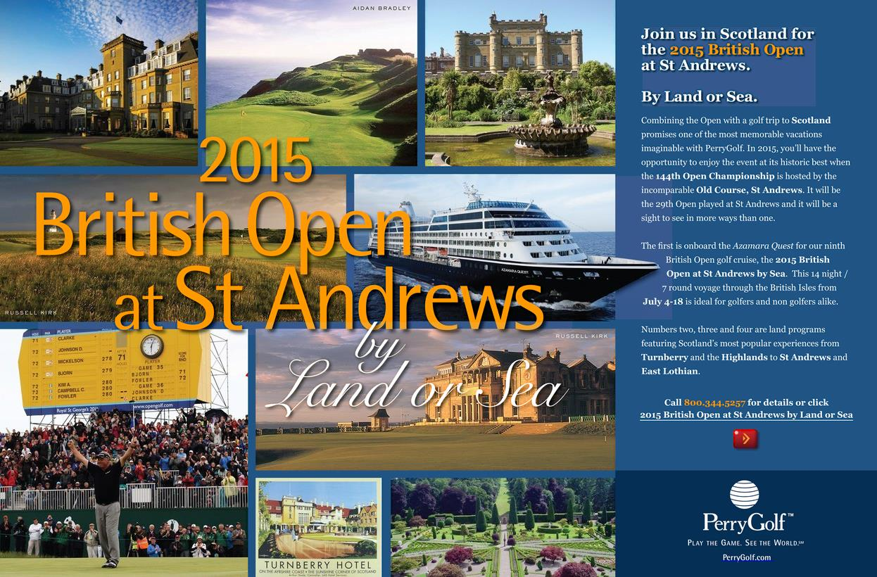 2015 British Open at St Andrews by Land or Sea with PerryGolf
