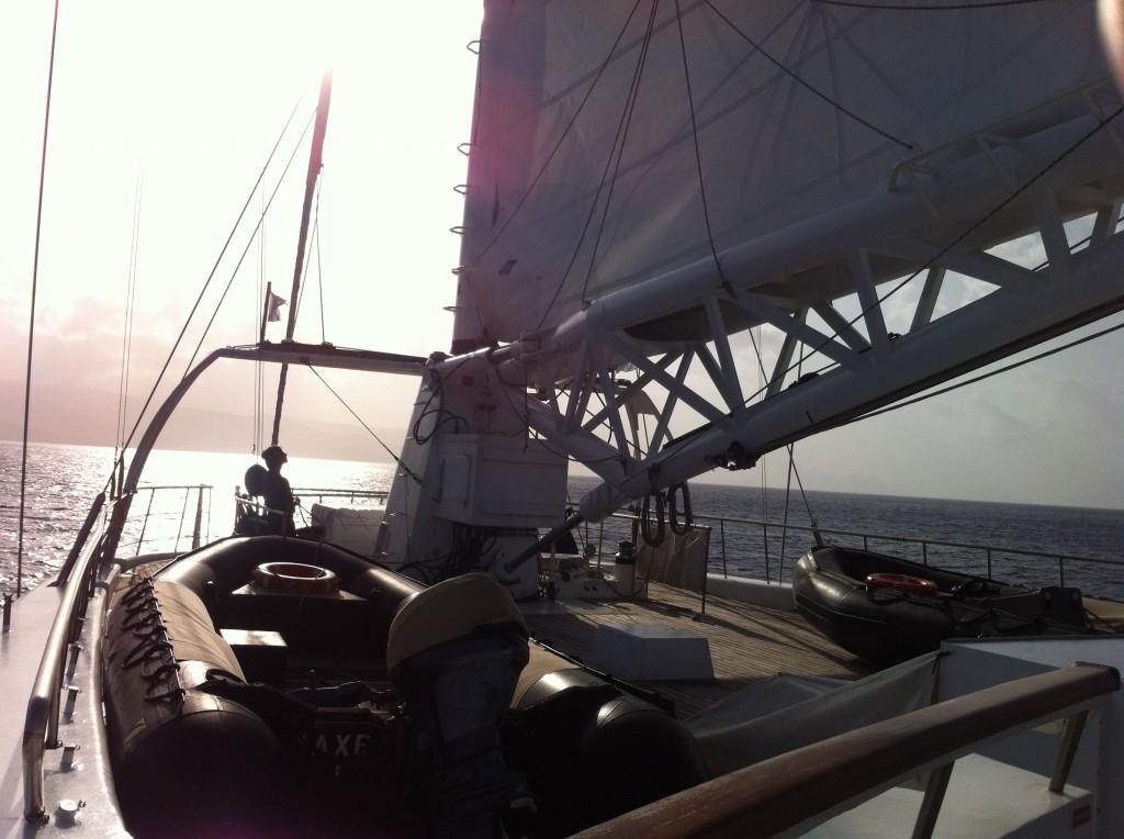 On board Le Ponant