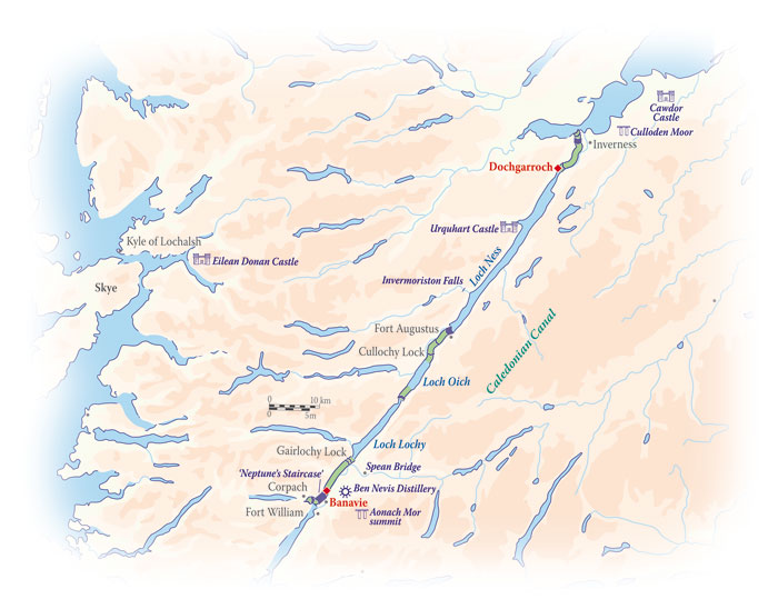 Great Glen: Caledonian Canal - Scottish Highlander Golf Cruise