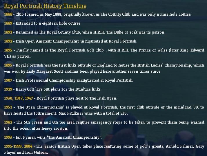 Royal Portrush History Timeline