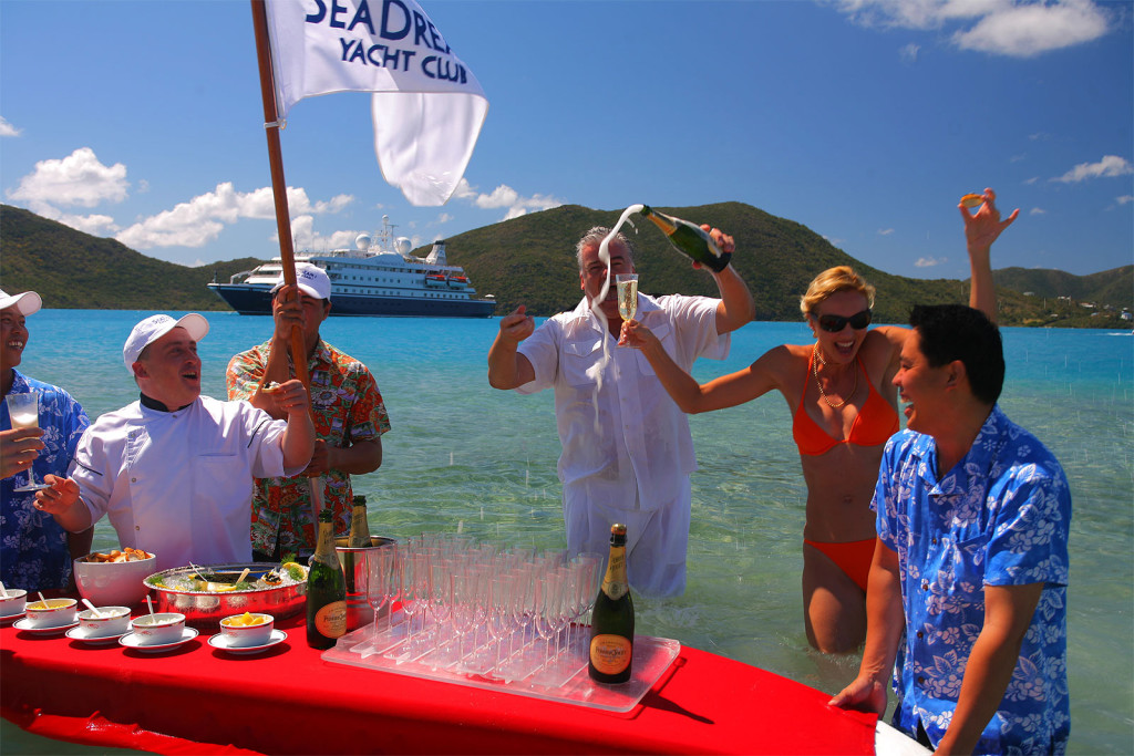 Champagne & Caviar Blast with SeaDream Yacht Club on a PerryGolf Cruise