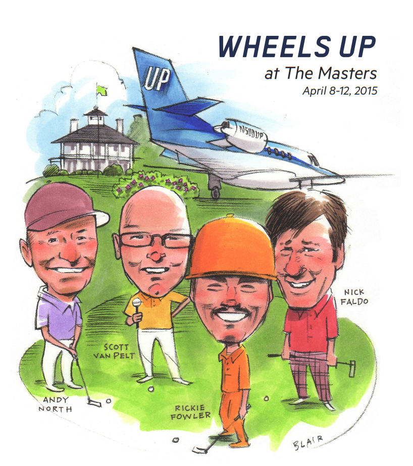 Wheels Down at The Masters hosted by Members Rickie Fowler, Andy North, Scott Van Pelt & Nick Faldo