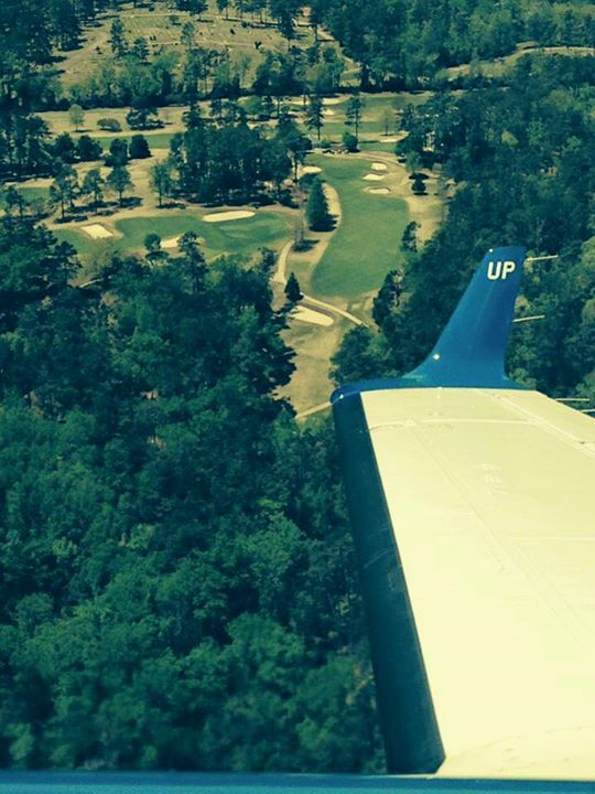 #WheelsUp over #Augusta! We're ready for a great week the Masters!