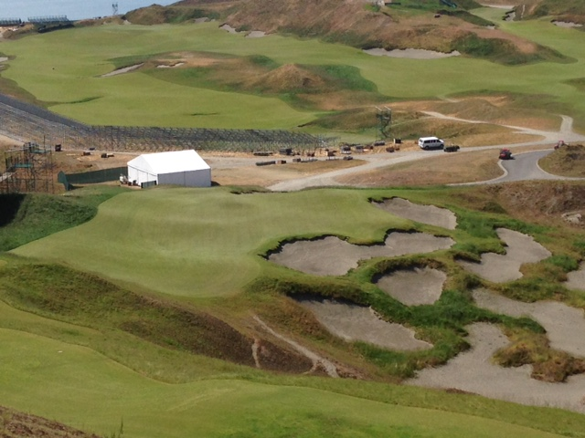 Chambers Bay - 2015 US Open - 9th Green