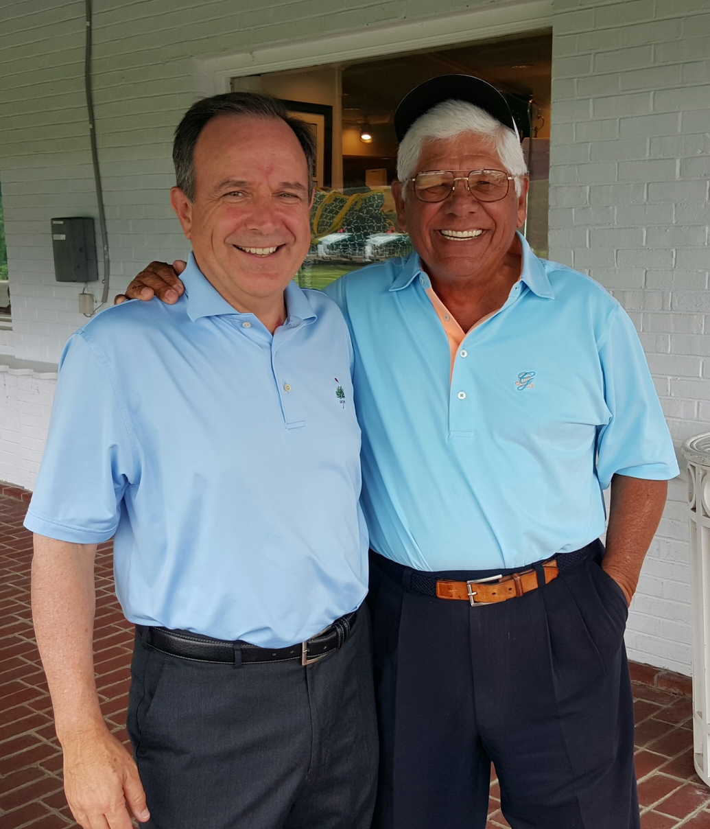 Lee Trevino & Gordon Dalgleish at The Greenbrier