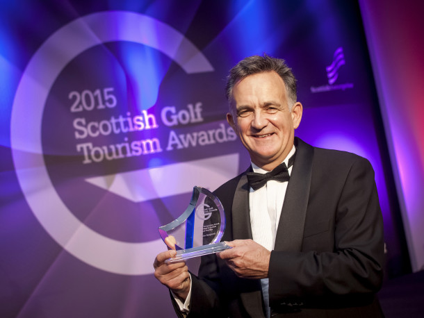 PerryGolf Co-Founder, Colin Dalgleish, receives Special Recognition Award at 2015 Scottish Golf Tourism Awards - PerryGolf.com