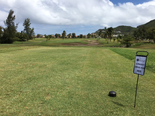Royal St. Kitts Golf Club - Long drive contest; smooth and slow back and let it rip! - PerryGolf.com