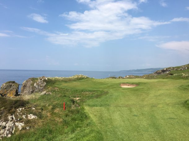 The Ailsa Course at Trump Turnberry - View of the new 11th green - PerryGolf.com
