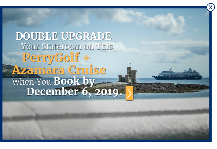Azamara golf cruises  with PerryGolf