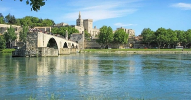 Avignon Bridge and Palace of the Popes