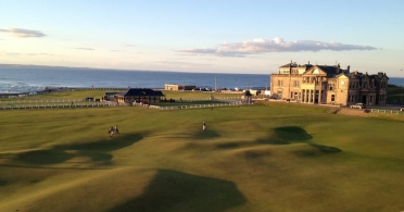 The Old Course at St Andrews by Rhet Topham