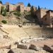 Ancient Roman amphitheatre ruins in Malaga, Spain