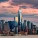 Lower Manhattan and One World Trade Center in New York City