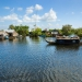 Floating House and Houseboat on Lake Tonle Sap