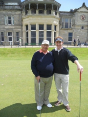 Father & son about to tee off on Old Course