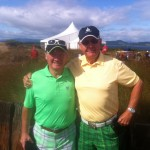 Good friends R. Holliday & V. Quinton from London, Canada bring some color to the proceedings at Castle Stuart