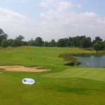 18th hole at the The K Club, site of much drama in the 2006 Ryder Cup. — in Straffan, Kildare.