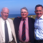 After shooting 39 for 9 holes at Kingsbarns, 79 year old F. Lewis of Princeton NJ joined M. Lippincott of Denver Colorado, and PerryGolf Co-Founding Director Colin Dalgleish for a well dressed lunch in St Andrews.