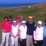 Mr & Mrs Pease and friends from Columbus Georgia pose for a photograph overlooking Kingsbarns #18