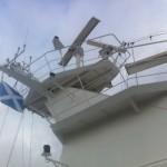 Azamara Quest flies the Scottish Saltire as we move into Scottish waters
