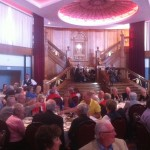PerryGolf guests enjoyed a great evening at Titanic Belfast, where the band played for them from the replica staircase of the famous liner.