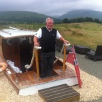 Welcome to 'High Tide Cafe', the innovative half way house at The Carrick Loch Lomond ...well what else are you going to do with a lovely motor launch that you no longer need, than stick it at the top of a hill (-: