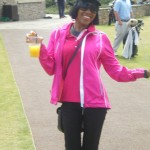 Deneish ready to head out and walk Kingsbarns Golf Links with the guys. — in St Andrews, Scotland.