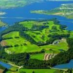 Aerial view of Fota Island