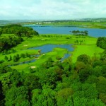 Aerial View of the Deerpark Golf Course at Fota Island