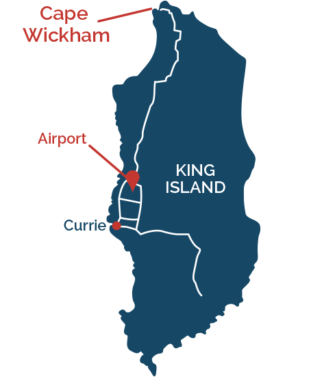 Key locations on King Island