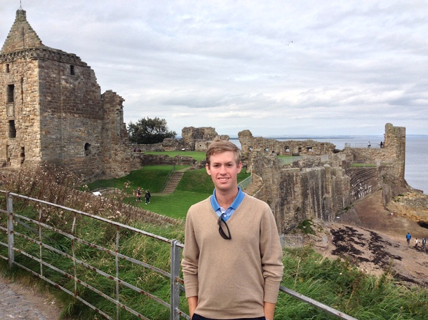 PerryGolf's Harrison Gould enjoys a visit to St Andrews Cathedral