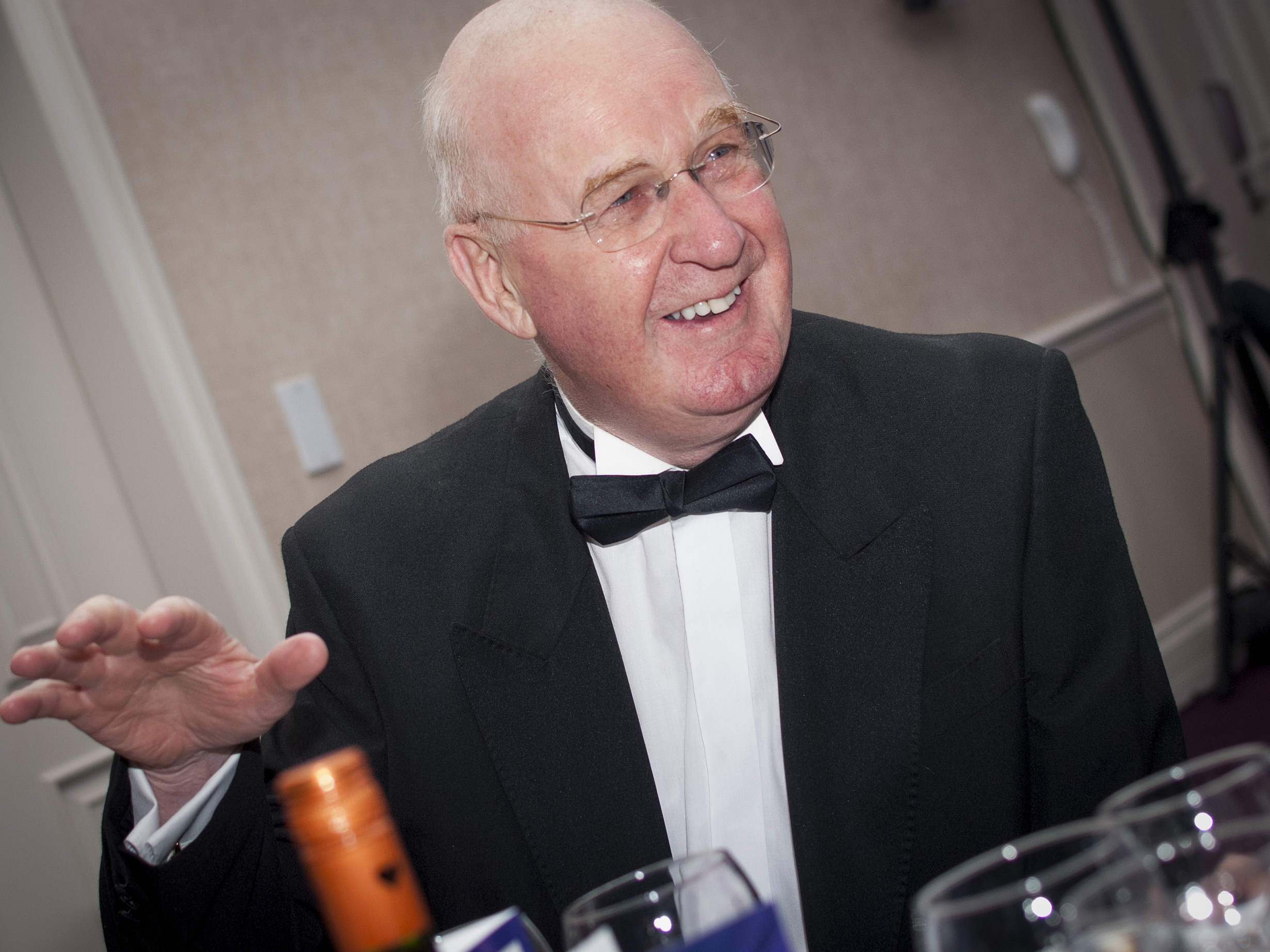 John Steele enjoys a night of celebration for PerryGolf Co-Founder, Colin Dalgleish for his receipt of a Special Recognition Award at the 2015 Scottish Golf Tourism Awards