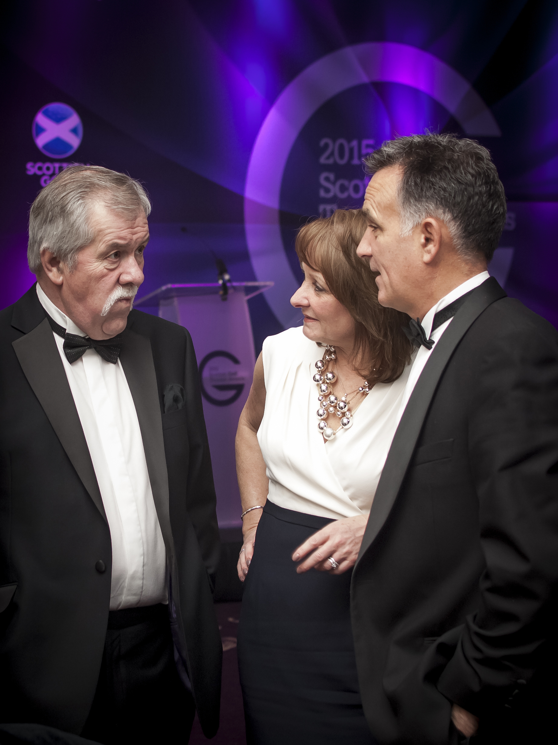 PerryGolf Co-Founder, Colin Dalgleish, receives a Special Recognition Award from at the 2015 Scottish Golf Tourism Awards