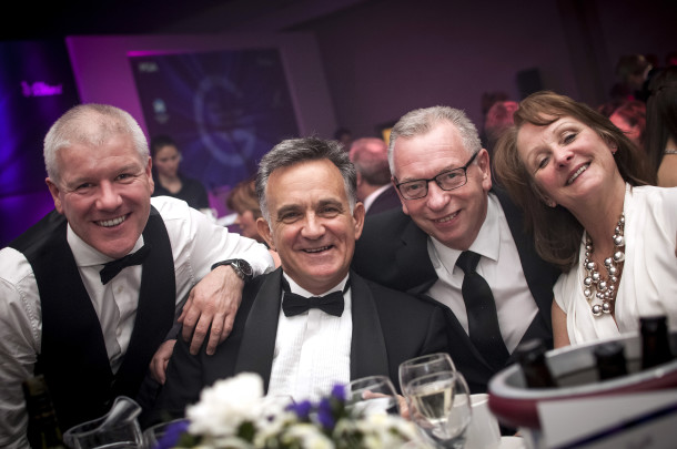 PerryGolf Team, Friends & Family join PerryGolf Co-Founder, Colin Dalgleish, in celebrating his receipt of a Special Recognition Award at the 2015 Scottish Golf Tourism Awards