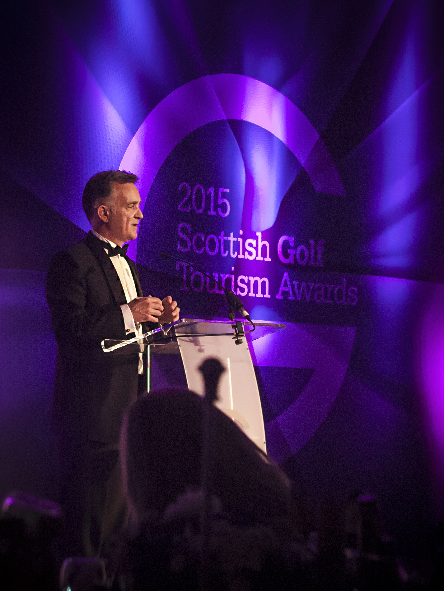 PerryGolf Co-Founder, Colin Dalgleish, receives a Special Recognition Award at the 2015 Scottish Golf Tourism Awards