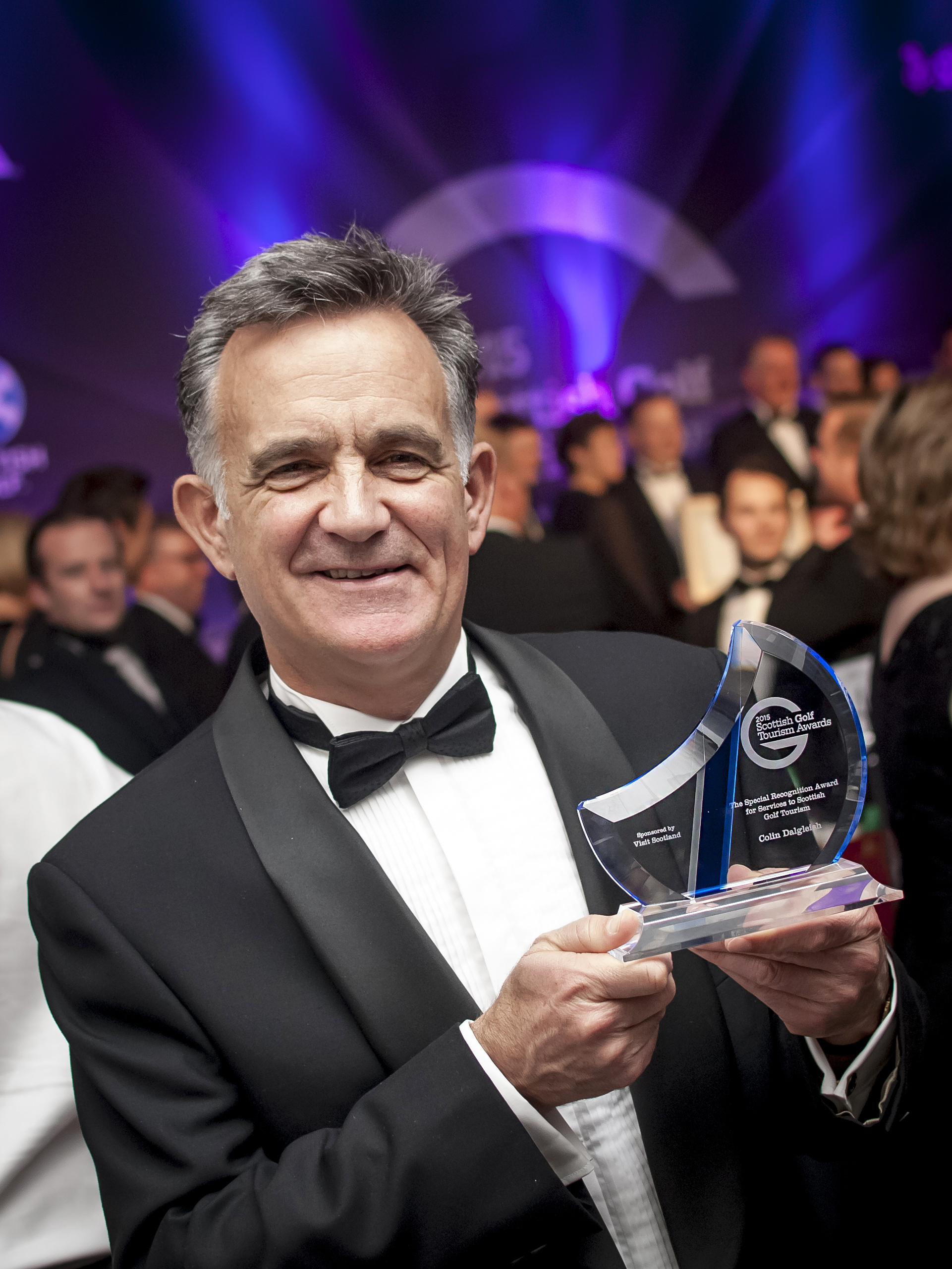 PerryGolf Co-Founder, Colin Dalgleish, receives Special Recognition Award at 2015 Scottish Golf Tourism Awards