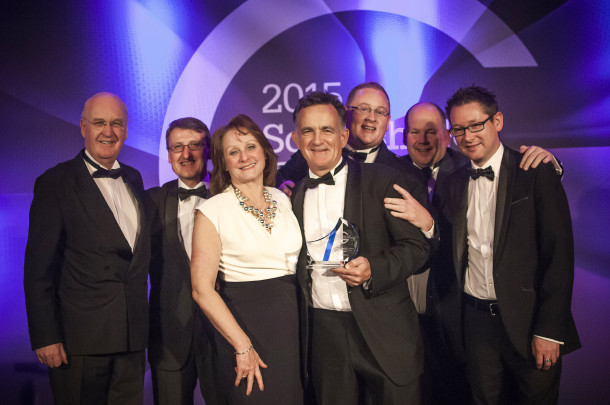 PerryGolf Team & Family join PerryGolf Co-Founder, Colin Dalgleish, in celebrating his receipt of a Special Recognition Award at the 2015 Scottish Golf Tourism Awards