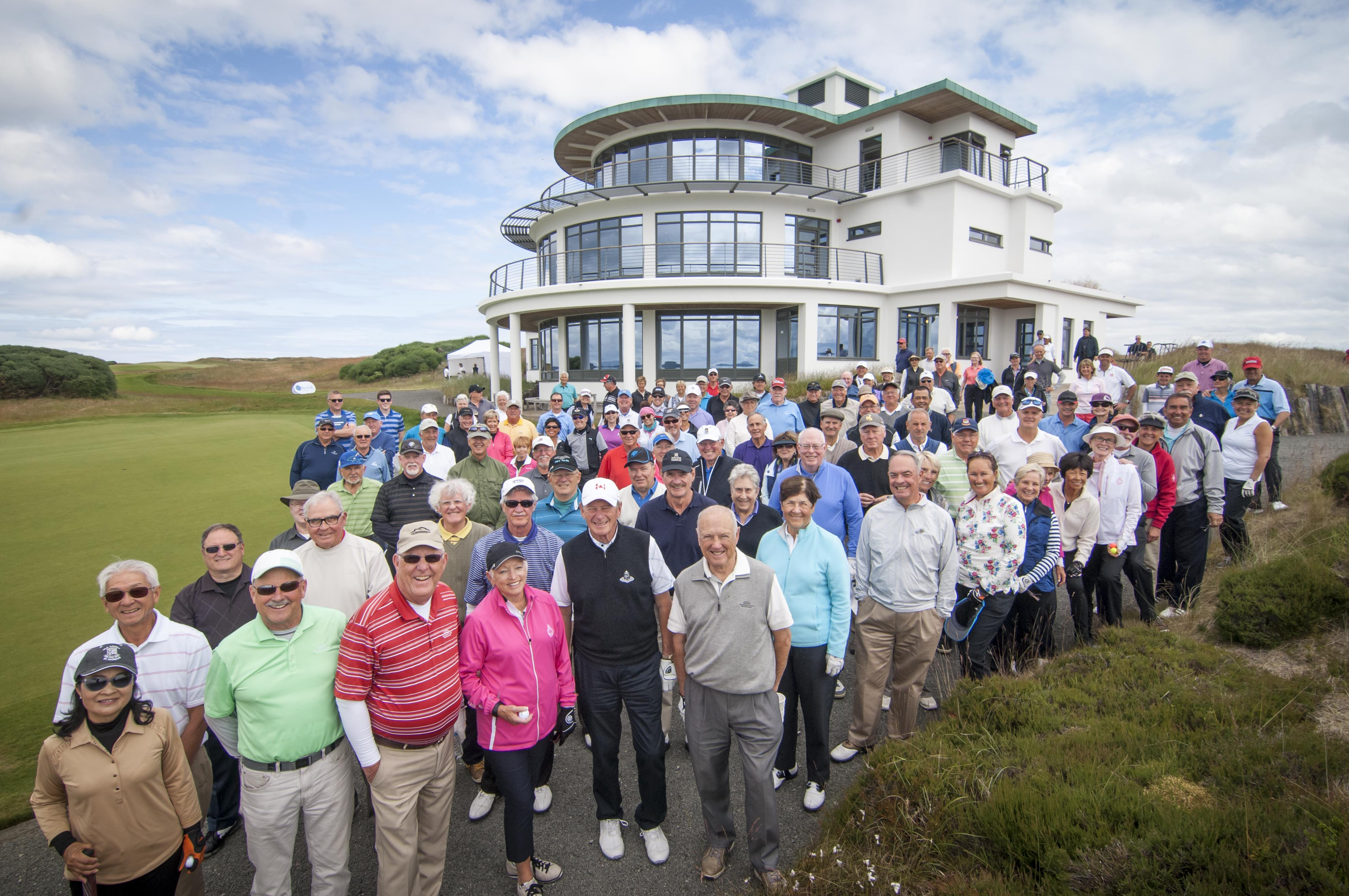 PerryGolf staff with guests at Castle Stuart Golf Links, Scotland during our 2015 Open Championship Golf Cruise