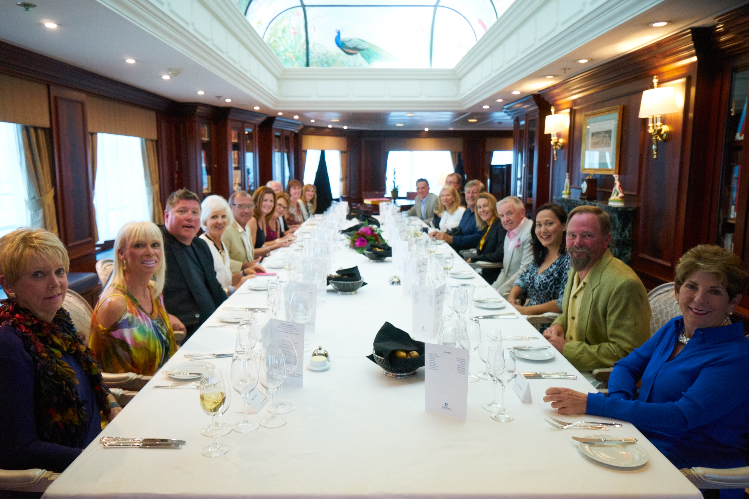 Dining at the Chef's Table onboard Azamara Quest during a PerryGolf Cruise