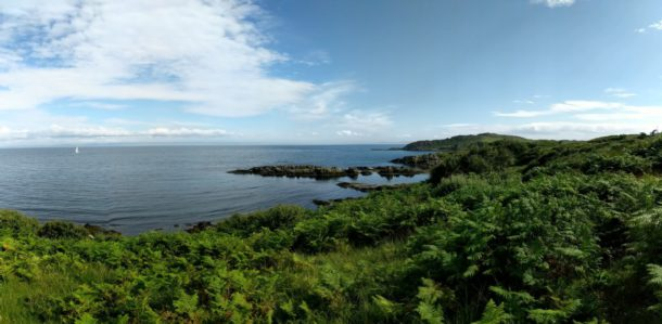 The Islay coastline, with the Mull of Kintyre in the distance