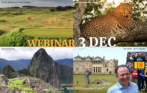 2020/2021 Escorted Tours Golf Cruise Webinar